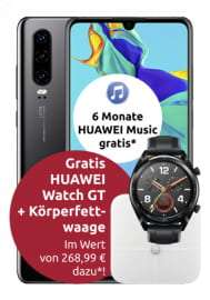 Huawei P30 + Zugaben für 4,99€ ZZ mit Congstar Allnet M: 8GB LTE (25 Mbit/s) mtl. 20€ oder 13GB LTE (50 Mbit/s) für mtl. 28€ [Telekom]