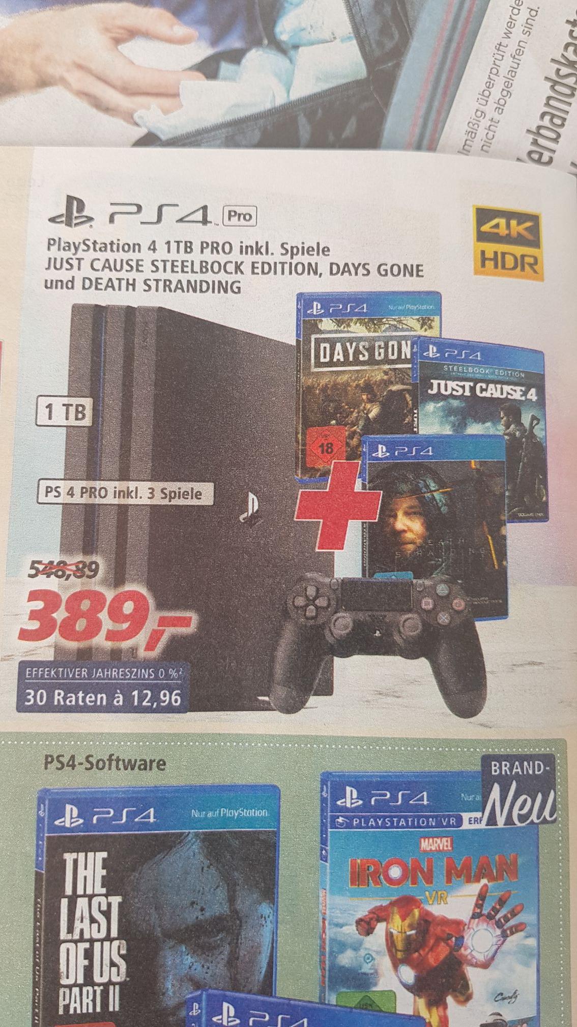 PS4 Pro 1 TB inkl. Death Stranding, Just Cause 4 und Days Gone in Brandenburg/Berlin