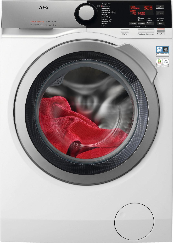 """AEG Waschmaschine mit 100€ Sparguthaben - 7000 L7FE77485, 8 kg, 1400 U/Min, ProSteam + kostenloser Anschlussservice + Test """"sehr gut"""""""