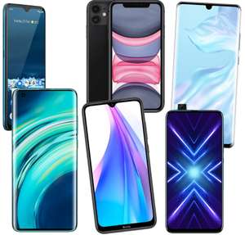 Smartphone-Sammeldeal: z.B. Xiaomi Redmi Note 8T, Nokia 5.3, Honor 9X, Huawei P30 Pro, Xiaomi Mi 10, Apple iPhone 11 128GB, Motorola Razr