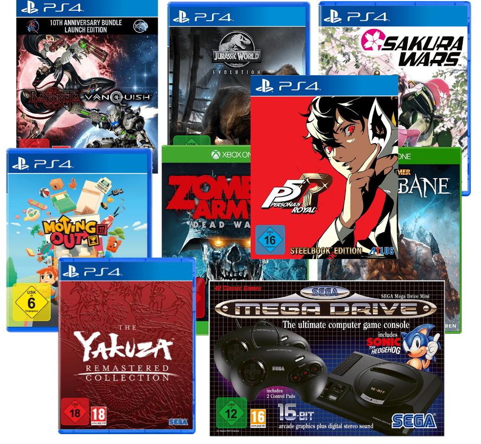 Weekend Gaming Deals: Spiele für PlayStation 4 & Xbox One + Sega Mega Drive Mini