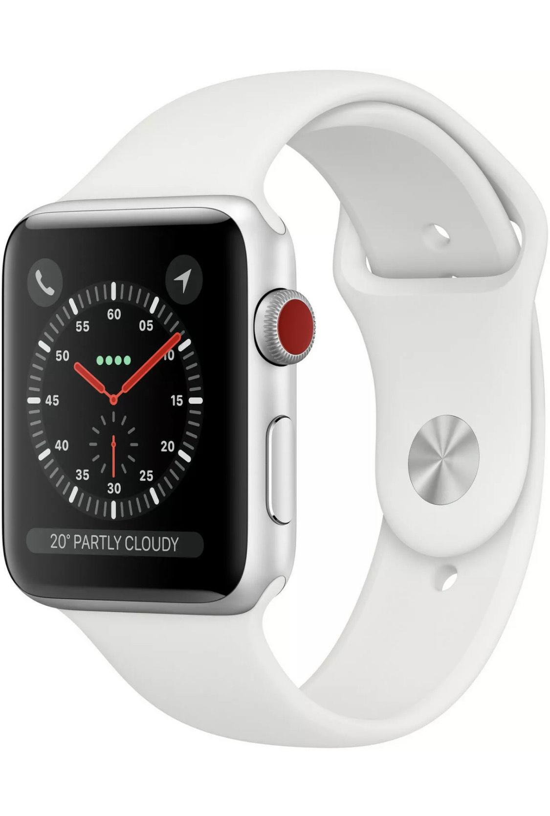 Apple Watch 3 GPS + LTE 38 mm weiß