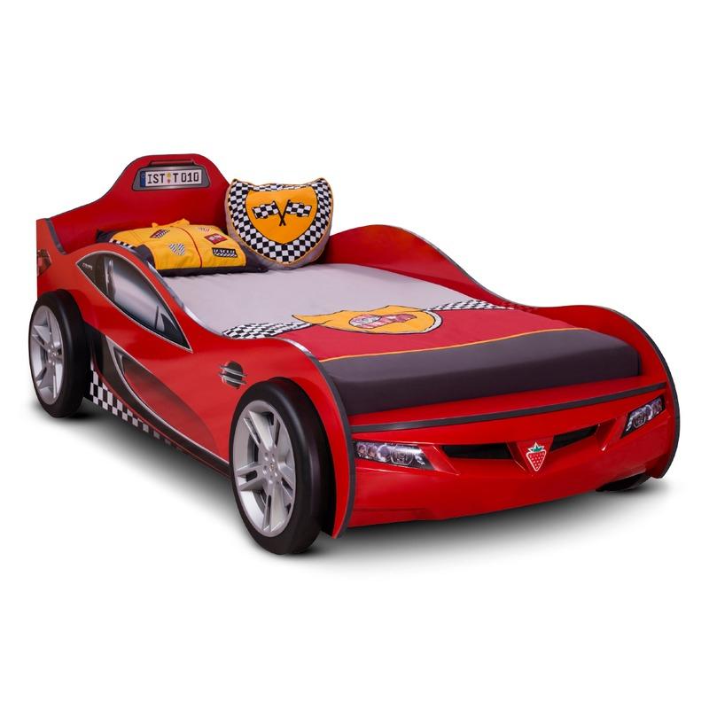 Autobett COUPE RACER rot mit 3D Optik Kinderbett Bett Auto Spiel 90x190cm, Cilek