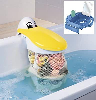 Rotho Pelikan Badespielzeug-Sammler, Kinderwaschbecken Kiddy-Wash, Steckspiel-Elefant, penny offline