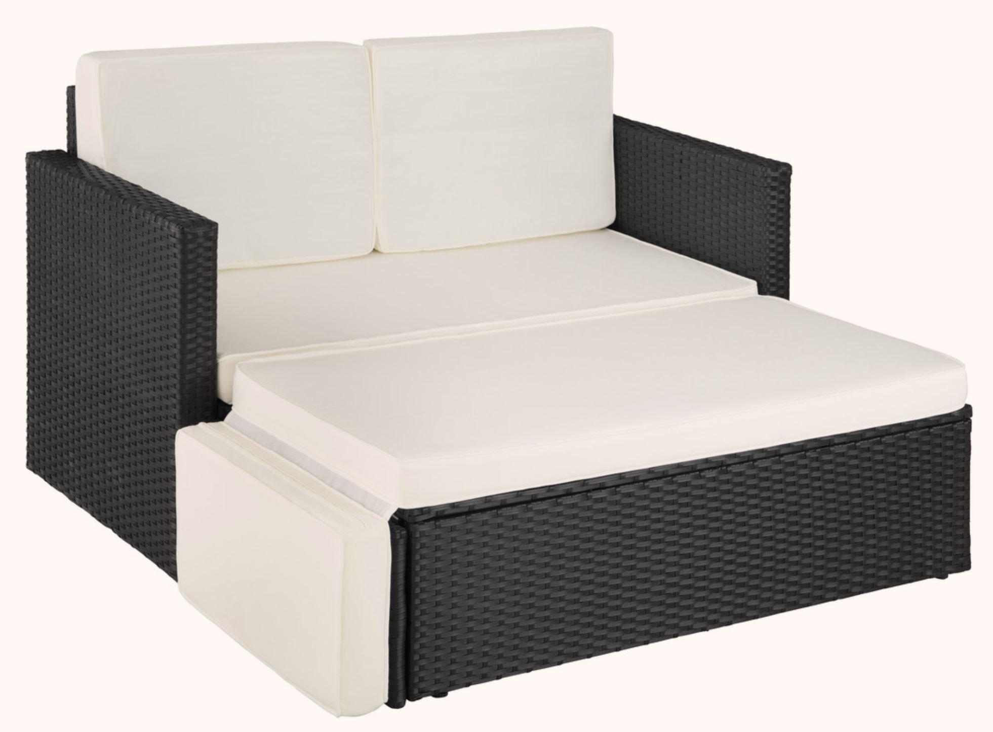 Günstiges Outdoor Polyrattan Lounge Sofa Korfu (TecTake) bei Rakuten
