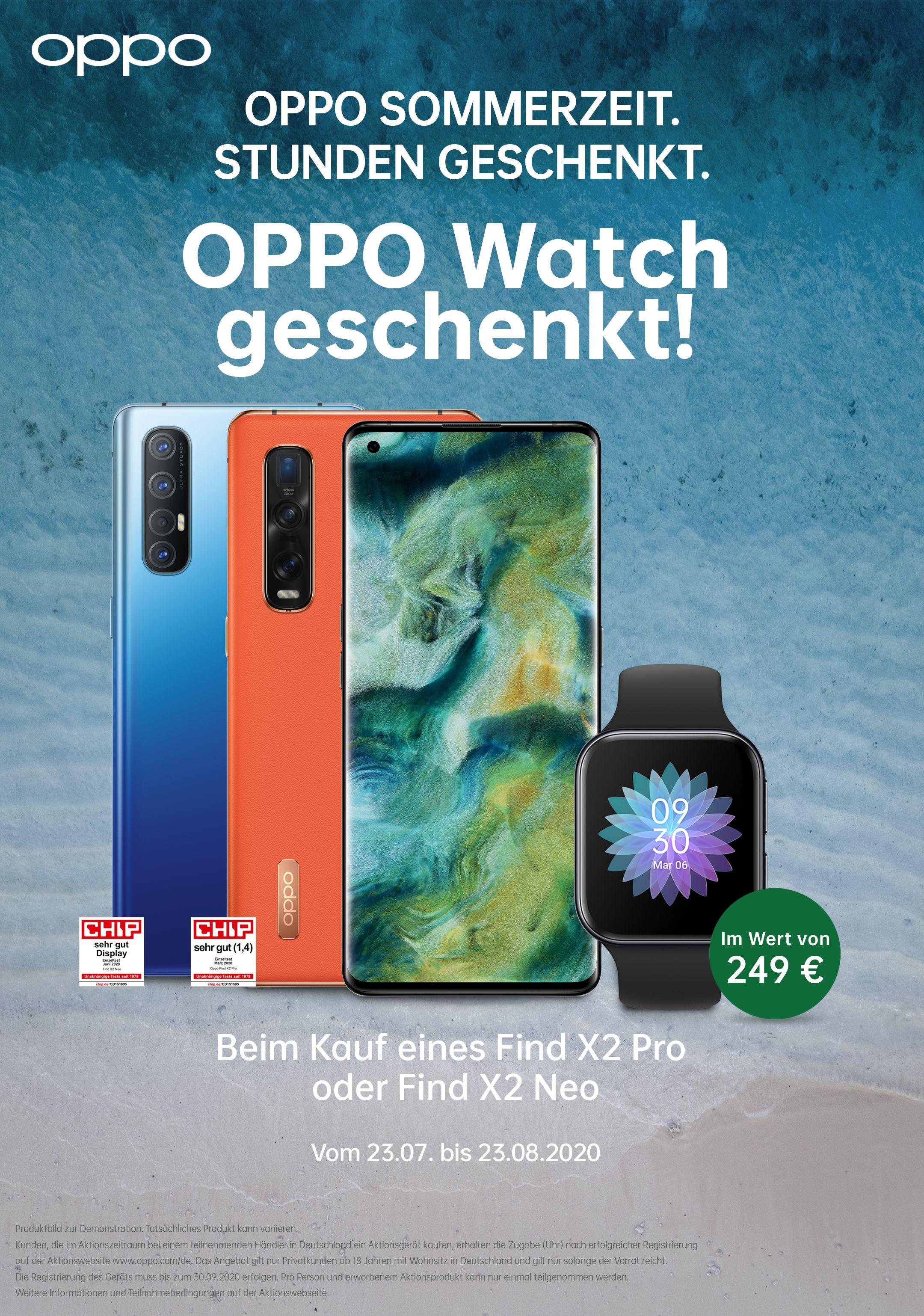 Oppo Watch beim Kauf eines Find X2 Neo oder Pro geschenkt