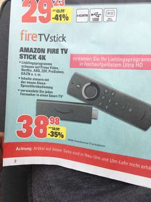 [Lokal Scheck-In Center] ab 27.07 Amazon Fire TV Stick 4K