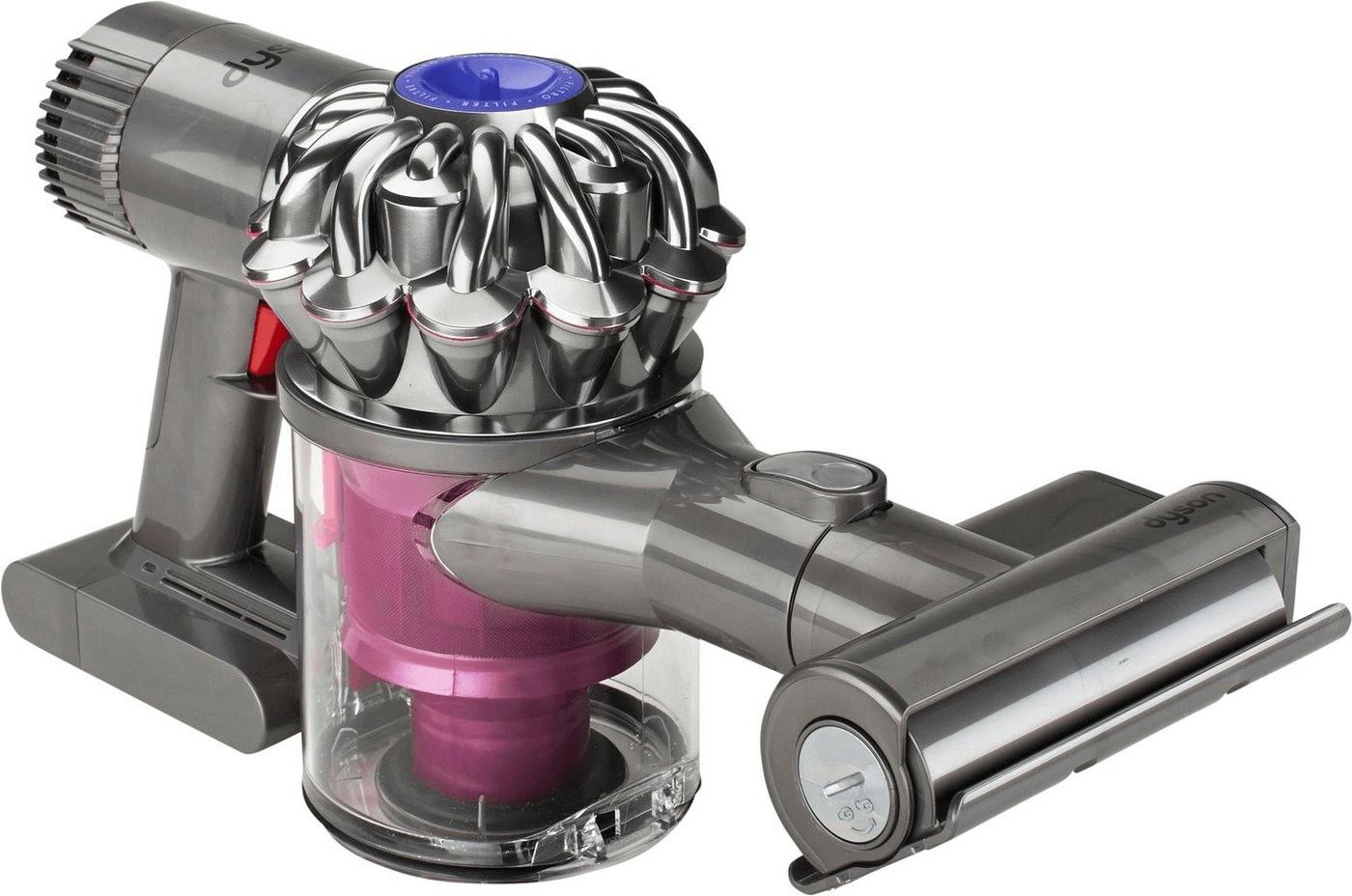 Dyson V6 Trigger+ mit 22,35€ RSP (bis 100W Saugleistung, 20/6min Betriebsdauer, 0.4l Staubbehälter, Mini-Elektrobürste/Kombidüse/Fugendüse)