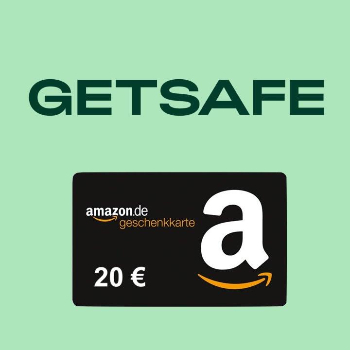 20€ Amazon Gutschein & bis zu 3 Monate gratis getsafe Haftpflicht-, Hausrat- & Reise-Versicherung durch 25€ Guthaben für getsafe Neukunden