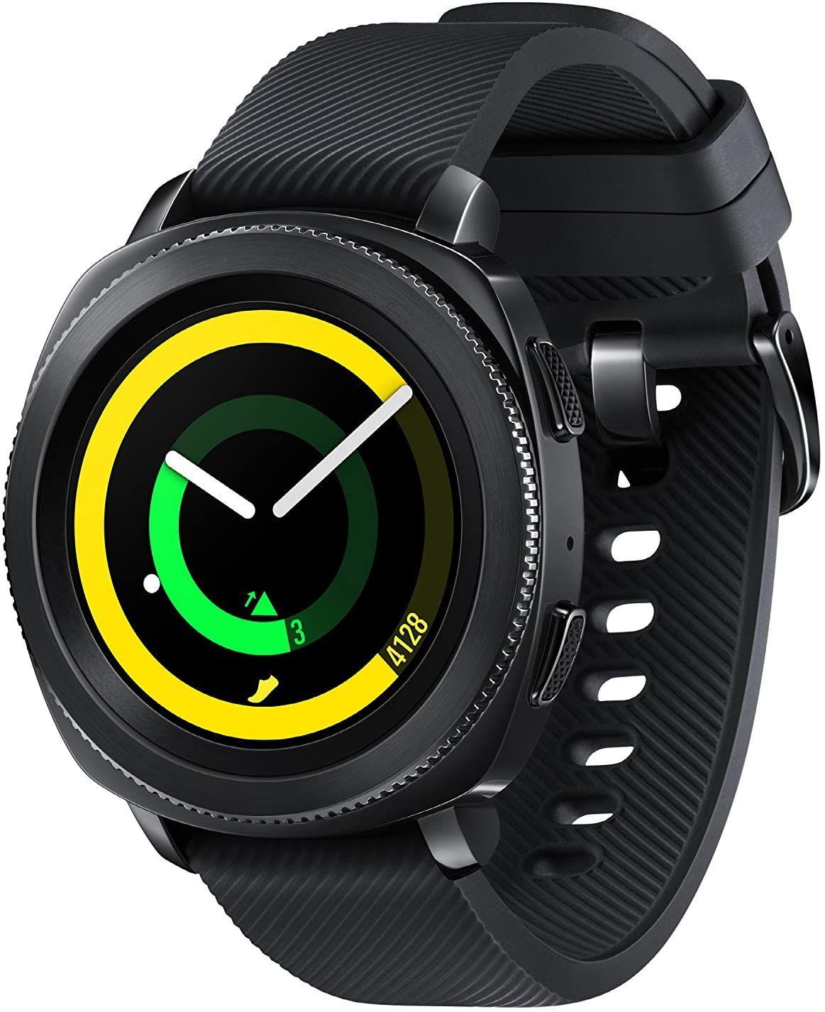 """Samsung Gear Sport - 1,2"""" Smartwatch (Super-AMOLED, GPS, NFC, 768 MB RAM, 4 GB Speicher, Herzfrequenzmessung, Edelstahl-Gehäuse)"""
