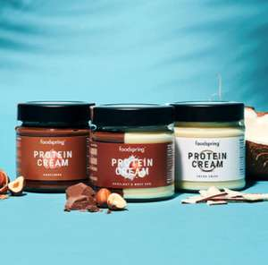 Foodspring Protein Cream Paket (Haselnuss, Cocos Crisp & Duo) als Prämie bei Glamour Miniabo für zusammen 5,90€
