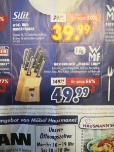 [Lokal Bergheim/Köln] WMF Messerblock Classic Line 7-tlg. Möbel Hausmann