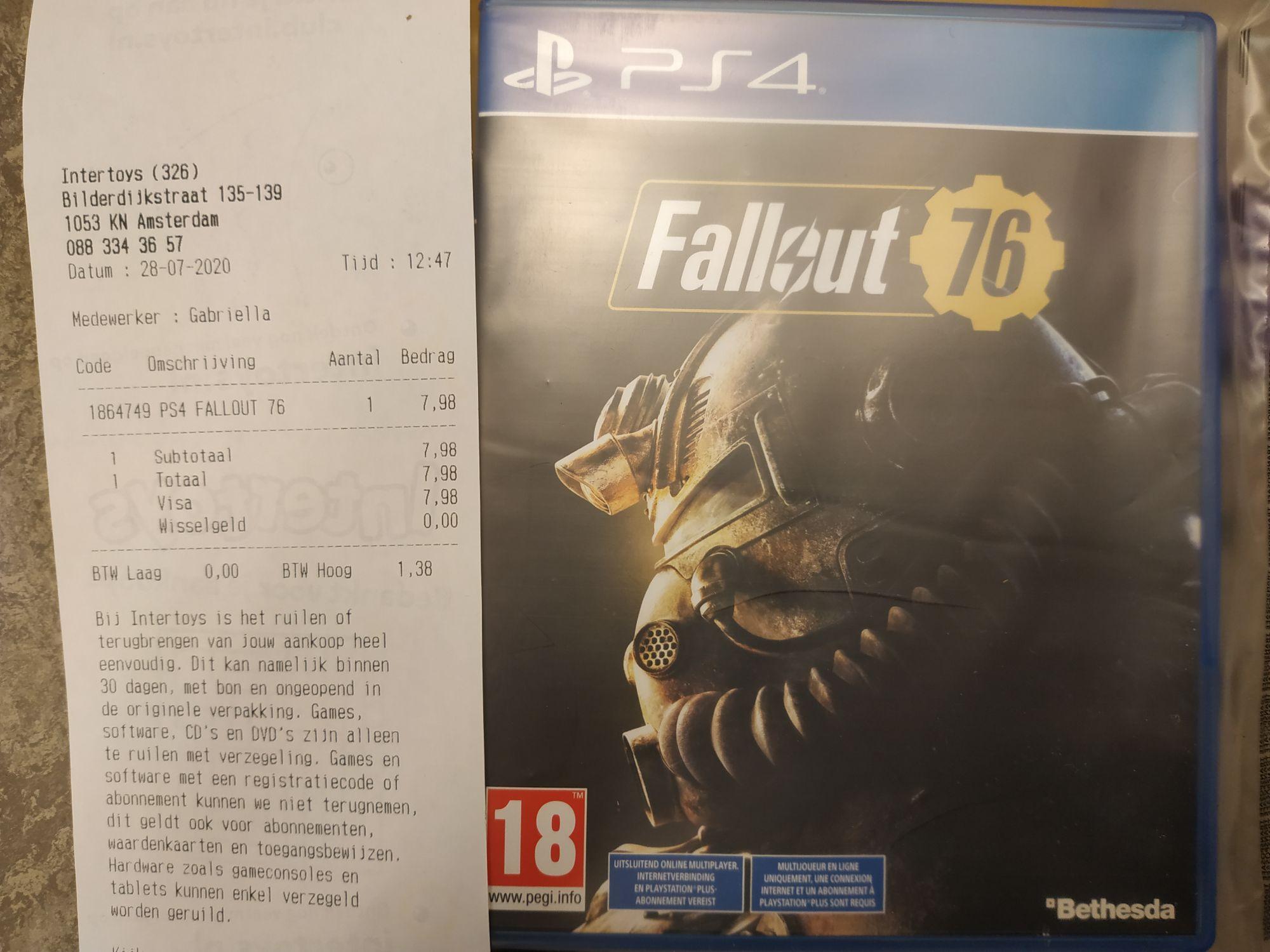 Fallout 76 im Intertoys für Niederlande Grenzgänger