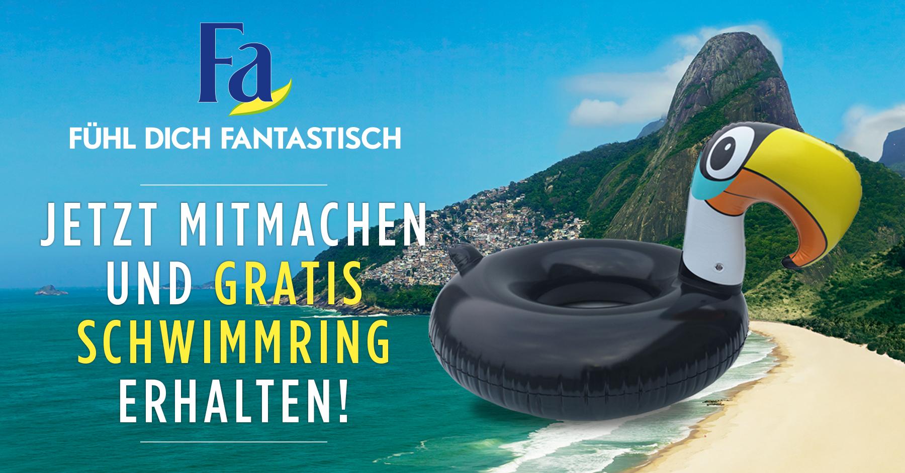 (HIT) Fa, Schauma, Syoss Produkte für 8€ kaufen, Tukan Schwimmring (1,20m) per Post erhalten