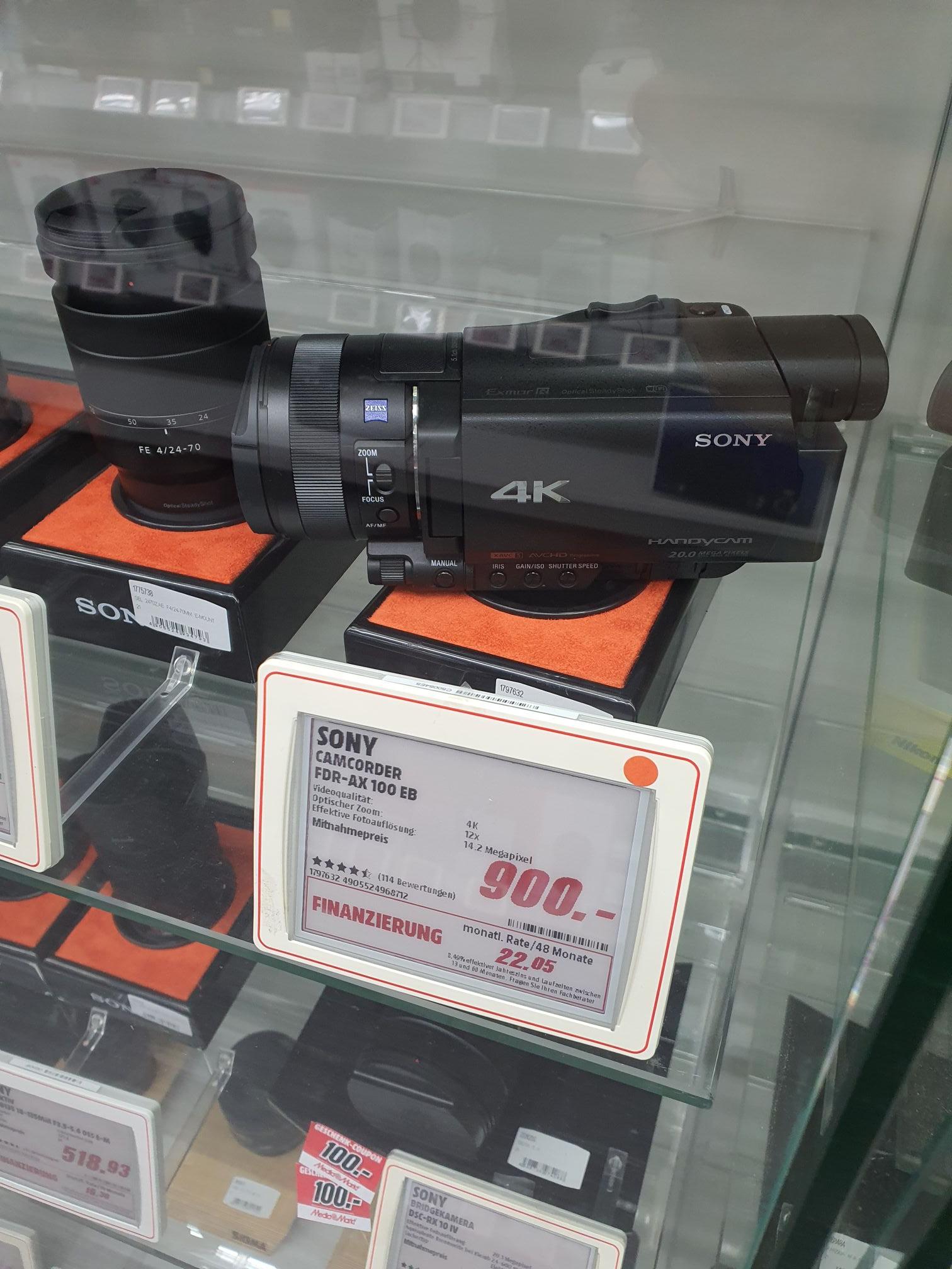 Sony FDR-AX100 Camcorder (Mediamarkt Berlin-Tegel)