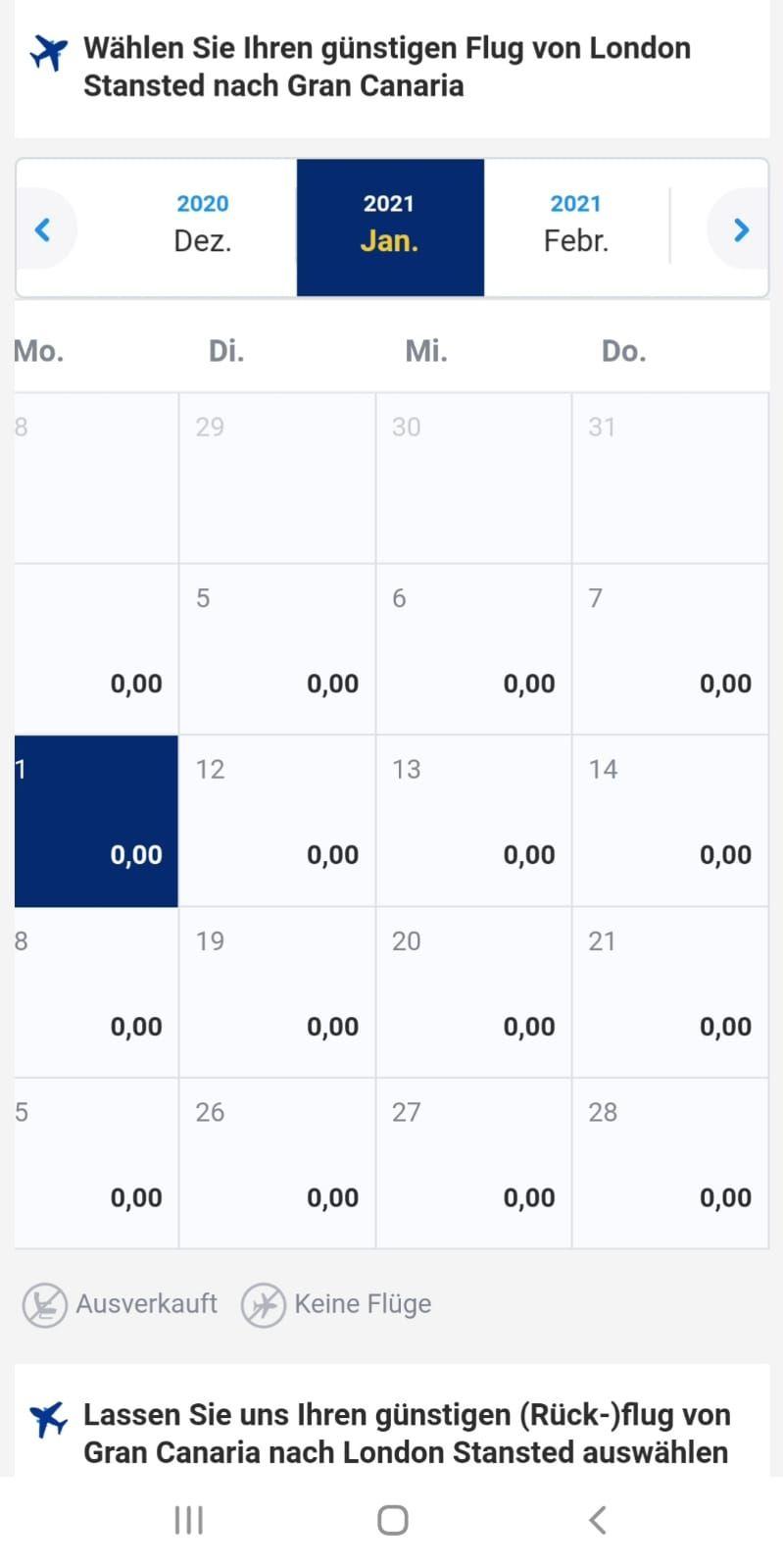 Error Fare/Preisfehler: Für 0,00€ nach Gran Canaria mit Ryanair (Jan - Mär)