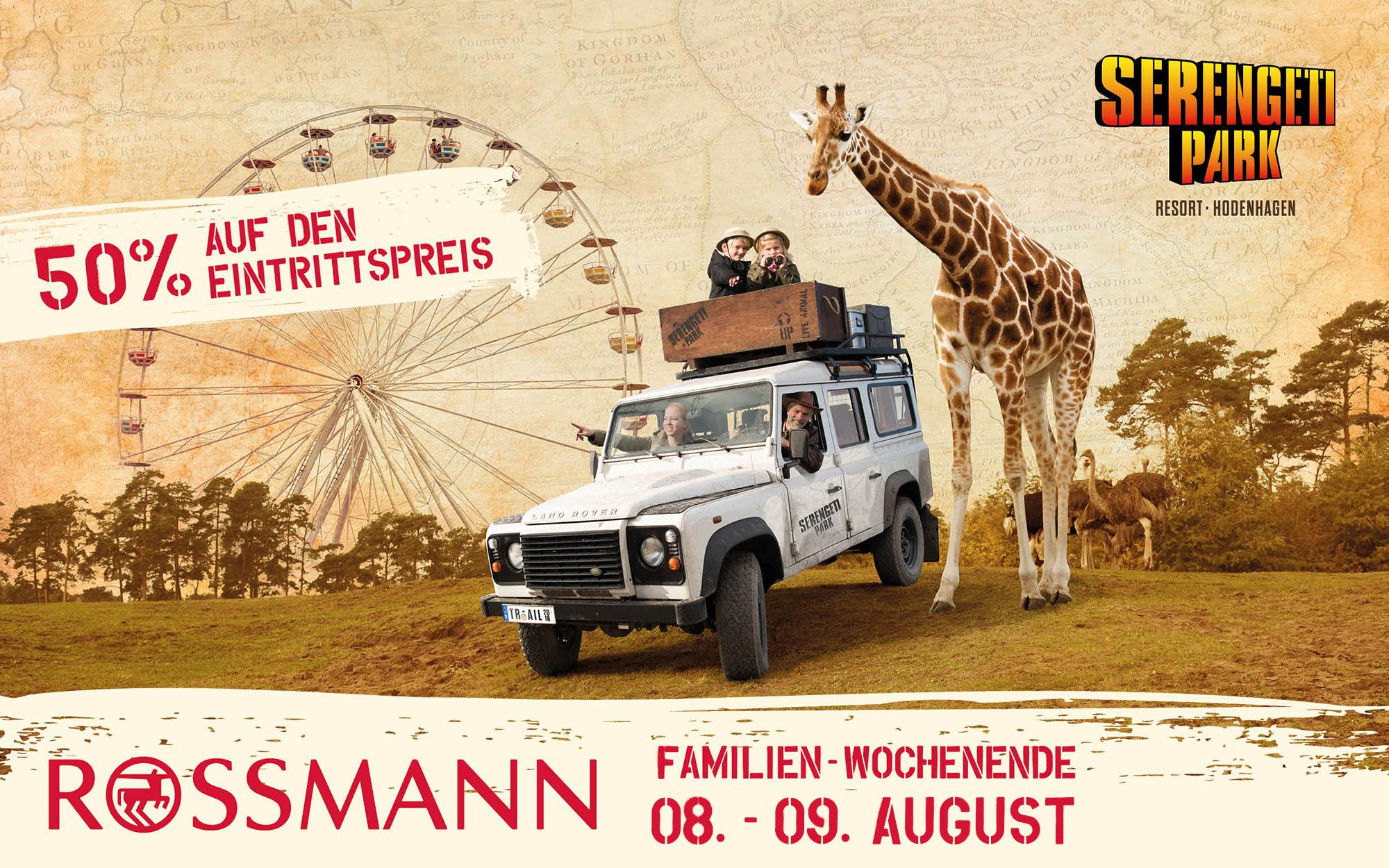 Rossmann-Familien-Wochenende am 8. und 9. August im Serengeti-Park Hodenhagen