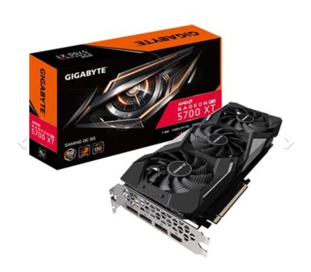 Gigabyte; AMD Radeon RX 5700XT Gaming OC, 8GB