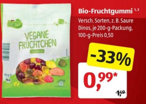 [ALDI Süd] Bio & Asia Woche zum Probierpreis z.B. Bio Vegane Früchtchen für 0,99 Euro