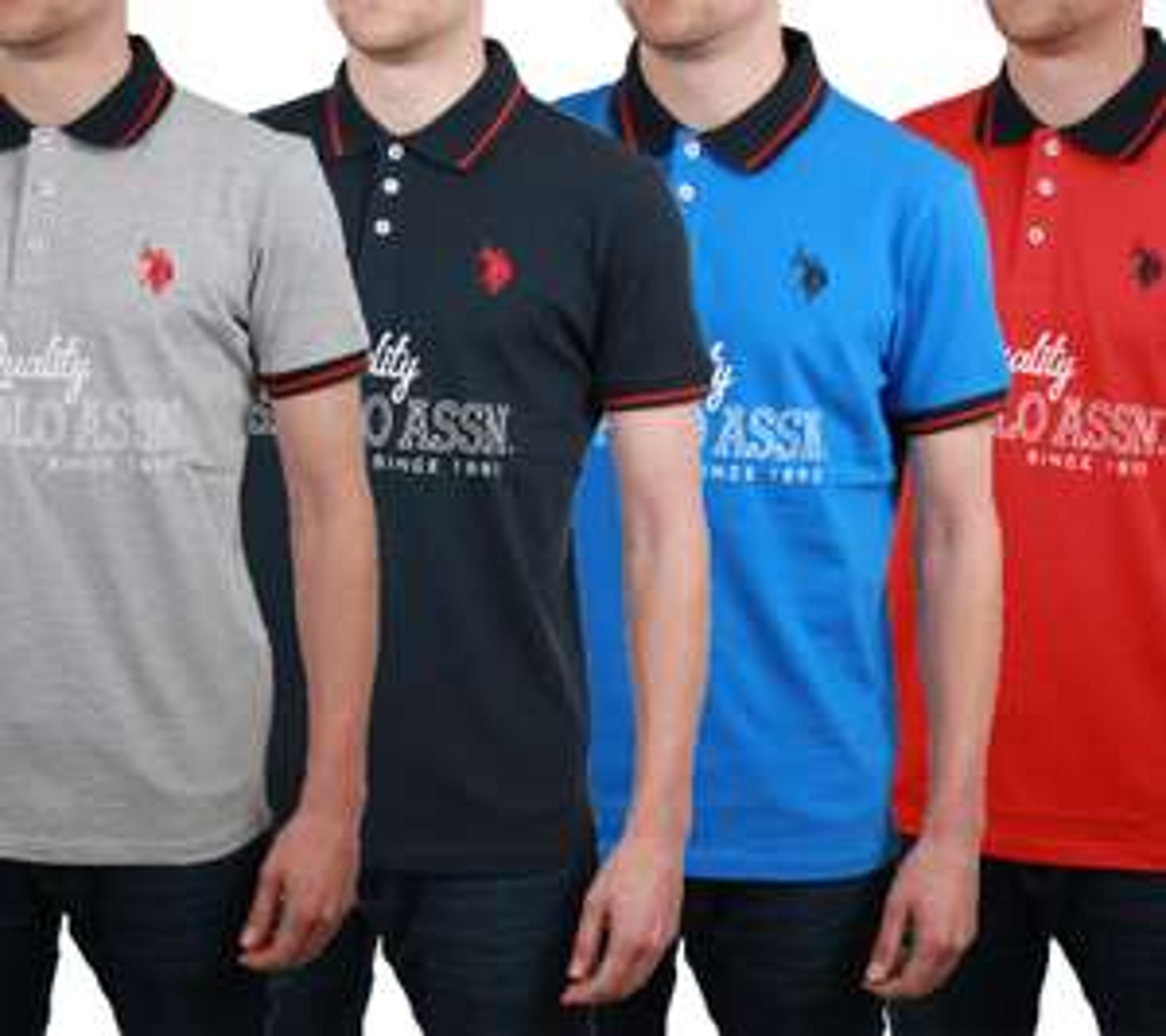 3x Polo Shirts von U.S. POLO ASSN. USPA Regular Fit 100% Baumwolle