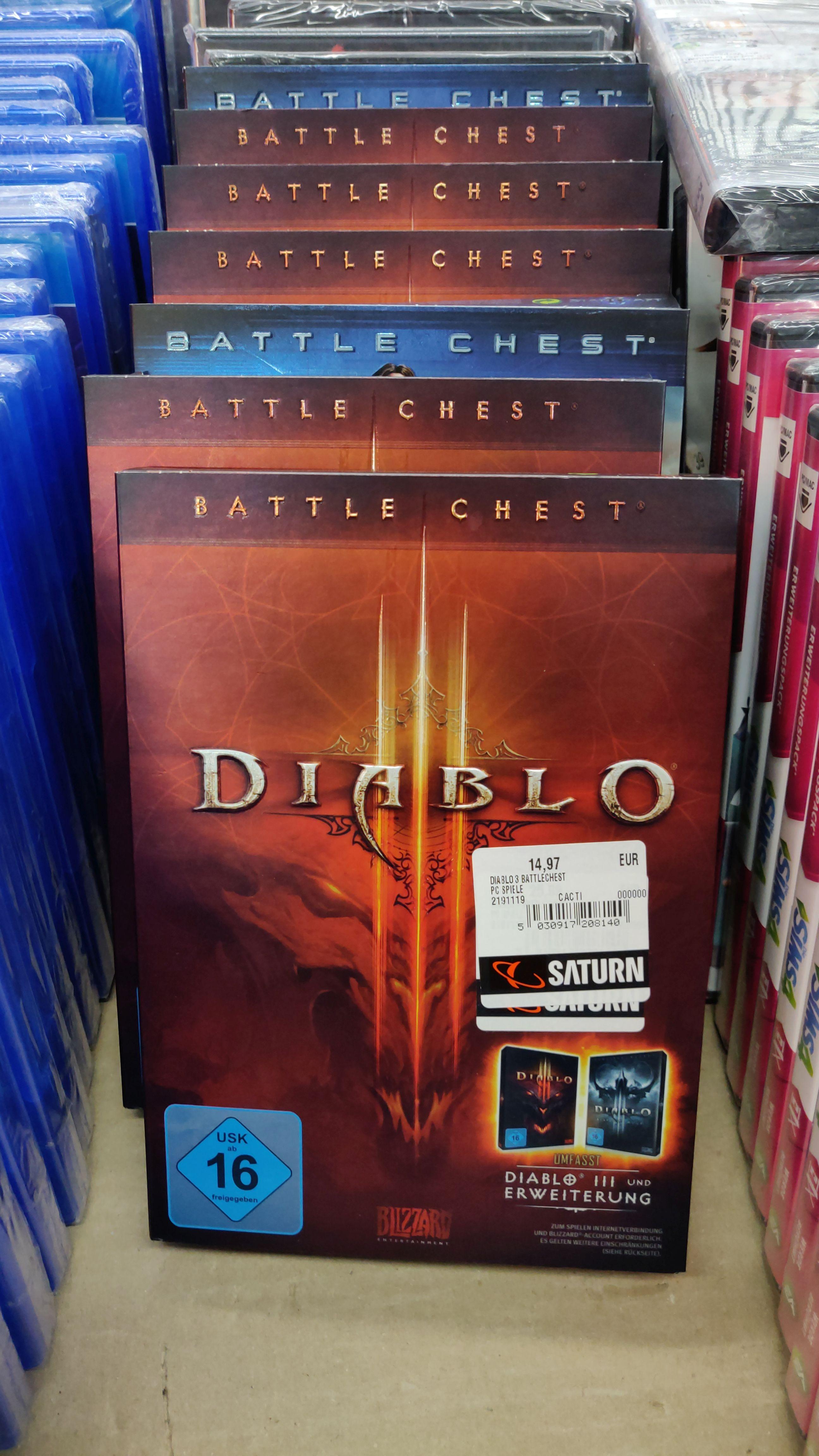 [Saturn Kaiserslautern] Diablo 3 Battlechest (PC) - Starcraft 2 Battlechest (PC) - Resident Evil 2 (PS4) - COD Black Ops 4 (Xbox One)