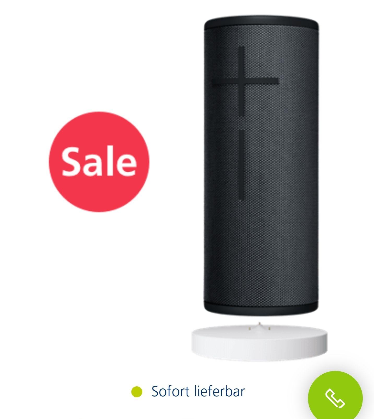UE Boom 3 Speaker inkl. Ladestation