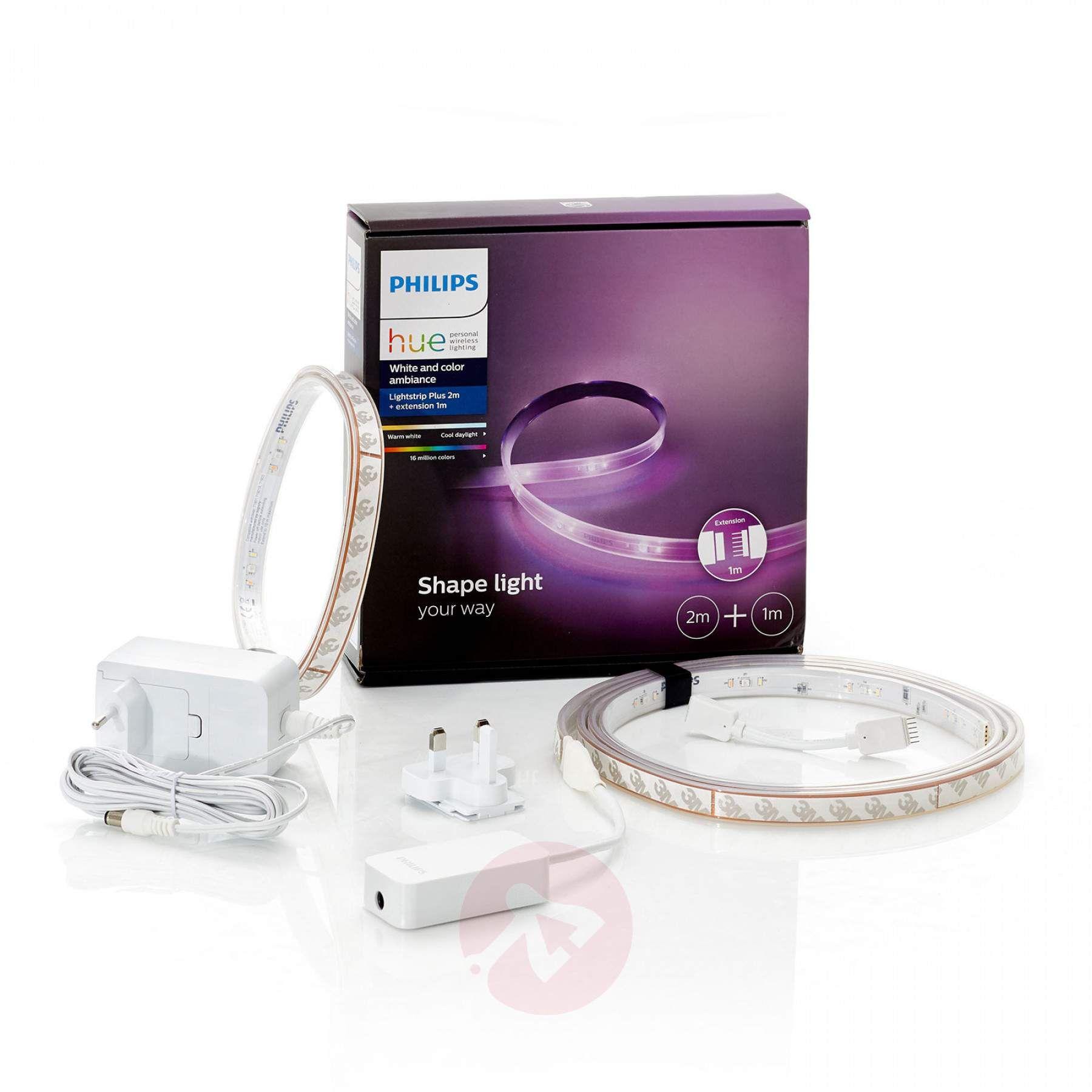 LightStrip Plus White and Color Ambiance für bestehendes Philips Hue-System - Sonderedition als 2+1m extra Bundle