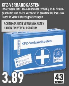 KFZ-Verbandskasten 43-teilig