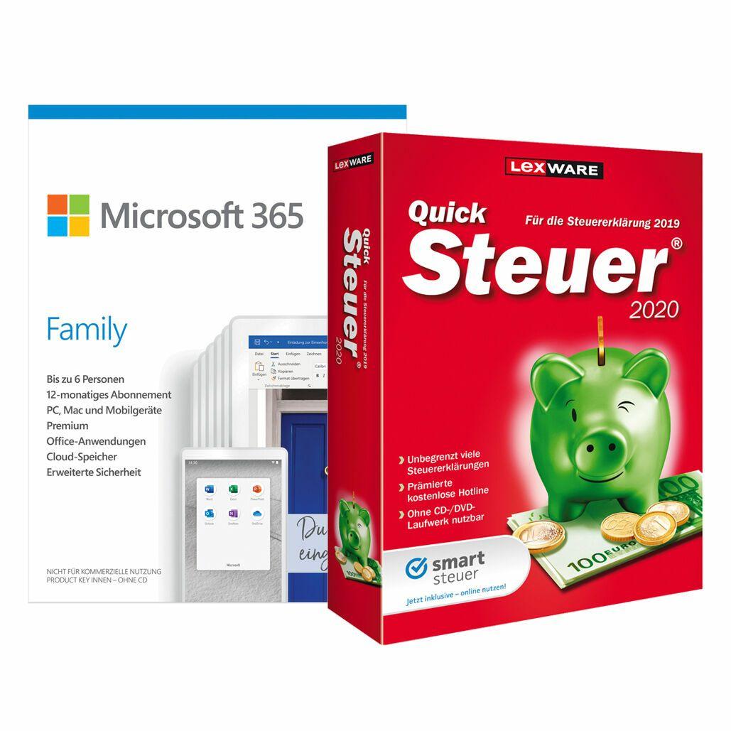 Microsoft 365 Family [6 Benutzer // 1 Jahr] inkl.Lexware QuickSteuer 2020/Alternativ als Download
