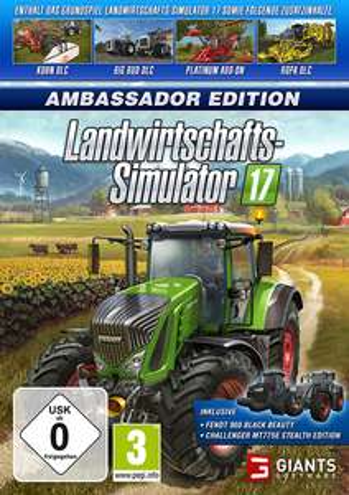 Landwirtschafts-Simulator 17 Ambassador Edition Spiele Code (Hauptspiel +Platinum Edition, Big Bud Pack, + 3 weitere Erweiterungen )