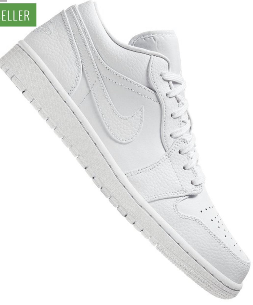 Jordan 1 low triple white