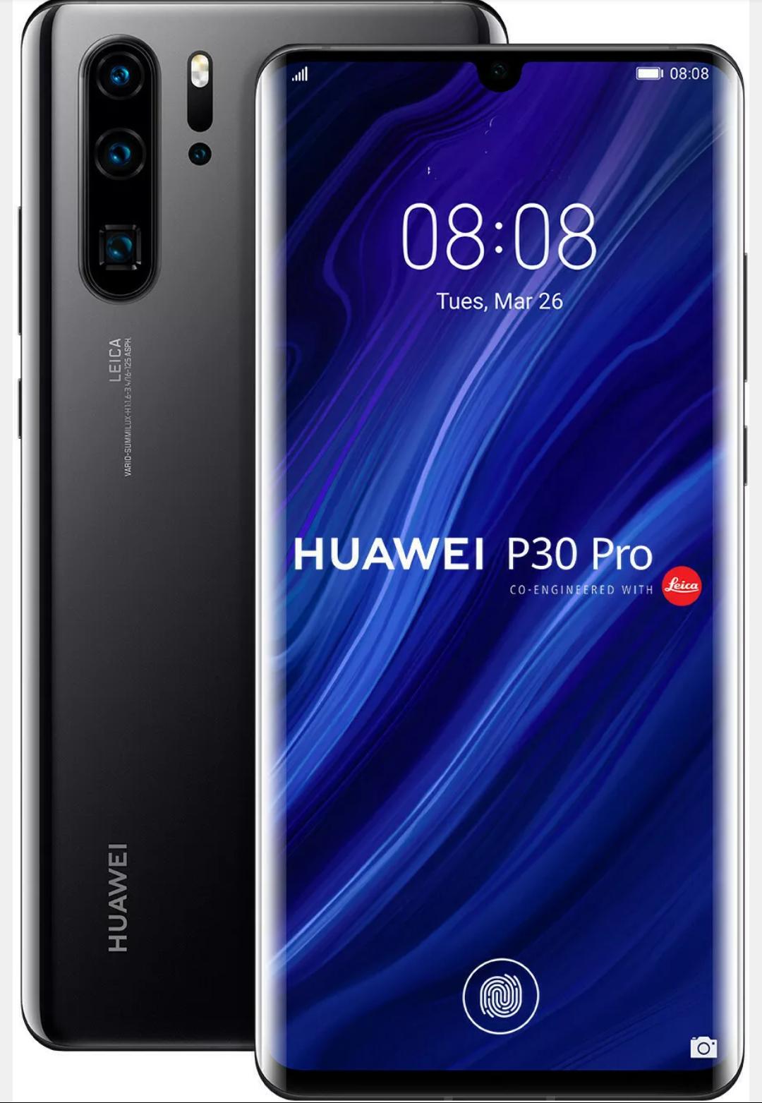 Huawei P30 Pro 128GB Black Schwarz Dual Sim Android Smartphone VOG-L29 NEU
