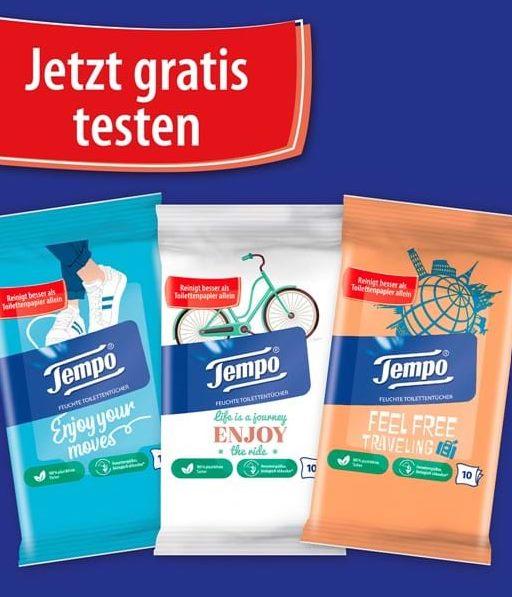 Tempo Feuchtes Toilettenpapier gratis Probe bestellen