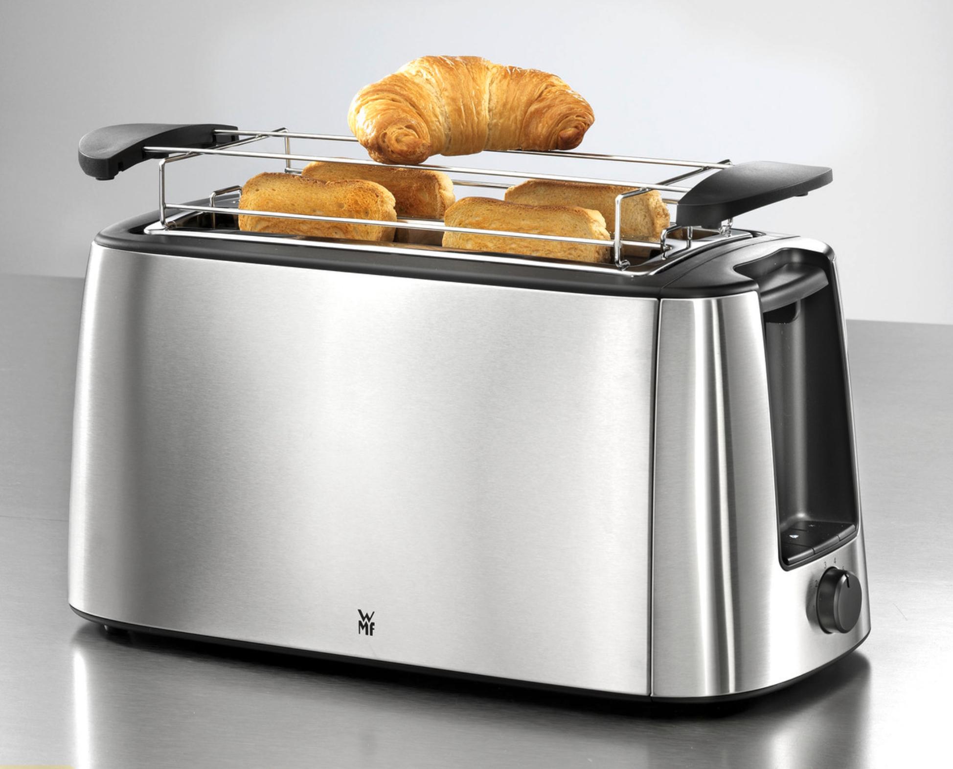 WMF Bueno Pro Toaster für 4 Toast o. 2 Brotscheiben, XXL-Toast Aufwärm-Funktion 6 Bräunungsstufen Edelstahl für 38,48€ inkl. Versandkosten