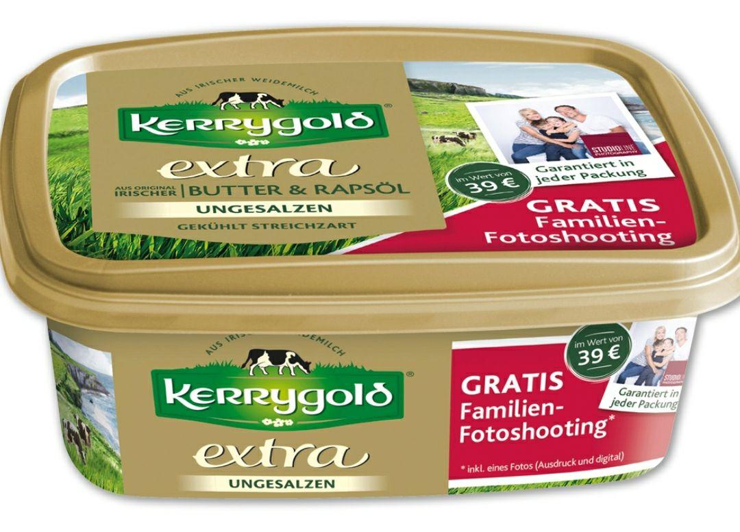 Kerrygold Aktionspackung kaufen und ein gratis Gutschein für ein Familienshooting im Wert von 39 € erhalten von STUDIOLINE