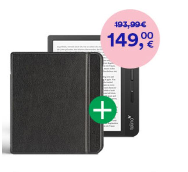 tolino e-Reader mit gratis Slim-Tasche