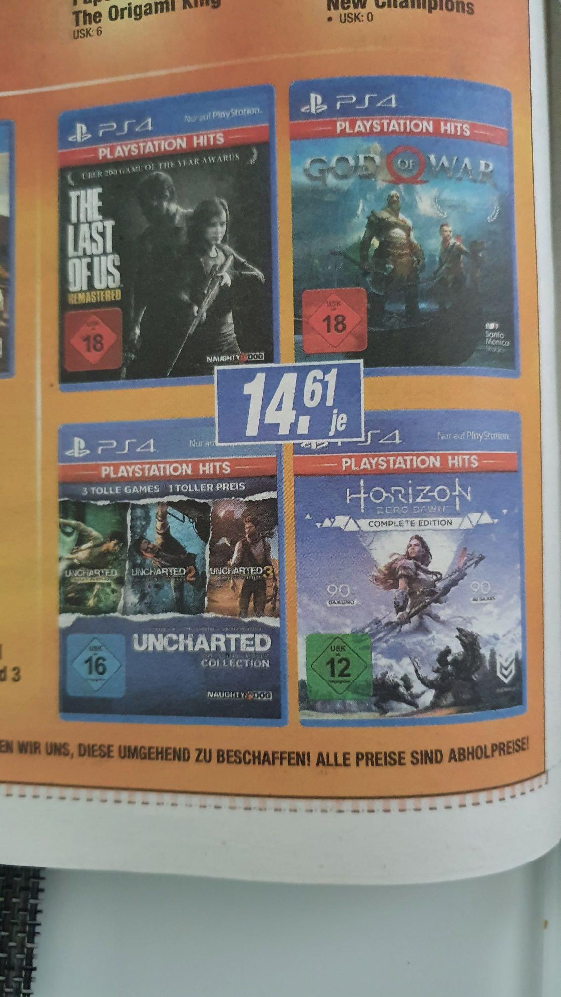 [Lokal(?) Expert Langenhagen] Horizon Zero Dawn complete Edition   Uncharted Collection   God of War   The last of us remastered