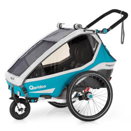 [babymarkt] Qeridoo Kidgoo2 - 2020er Modell petrol oder grey Kinderfahrradanhänger