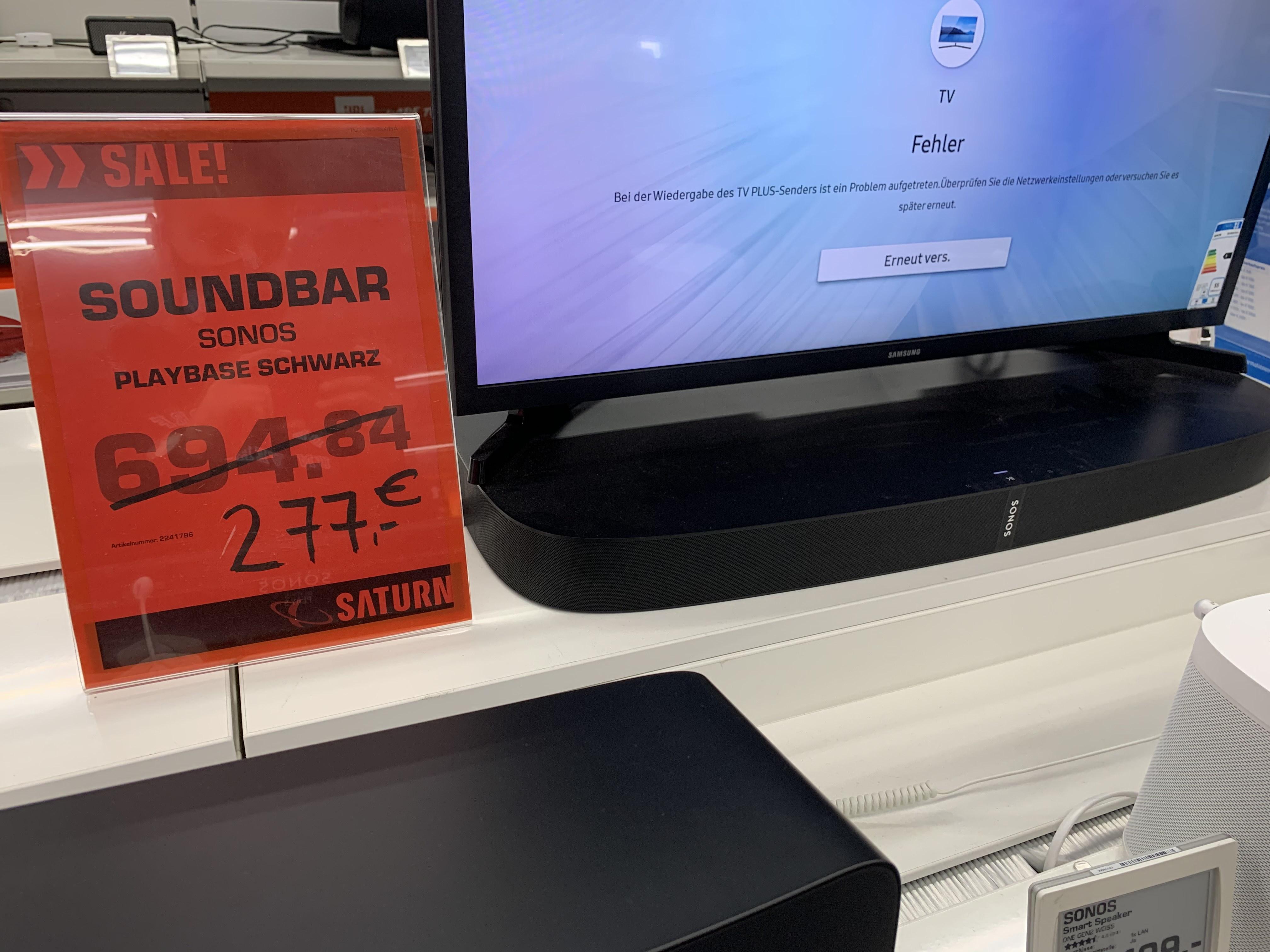 (Lokal) Saturn Regensburg Sonos (Playbase) sowie Sub Bestpreis (Aussteller)