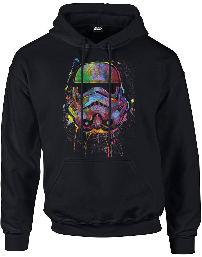 Star Wars Paint Splat Stormtrooper Hoodie - Schwarz /Alle Größen vorhanden!