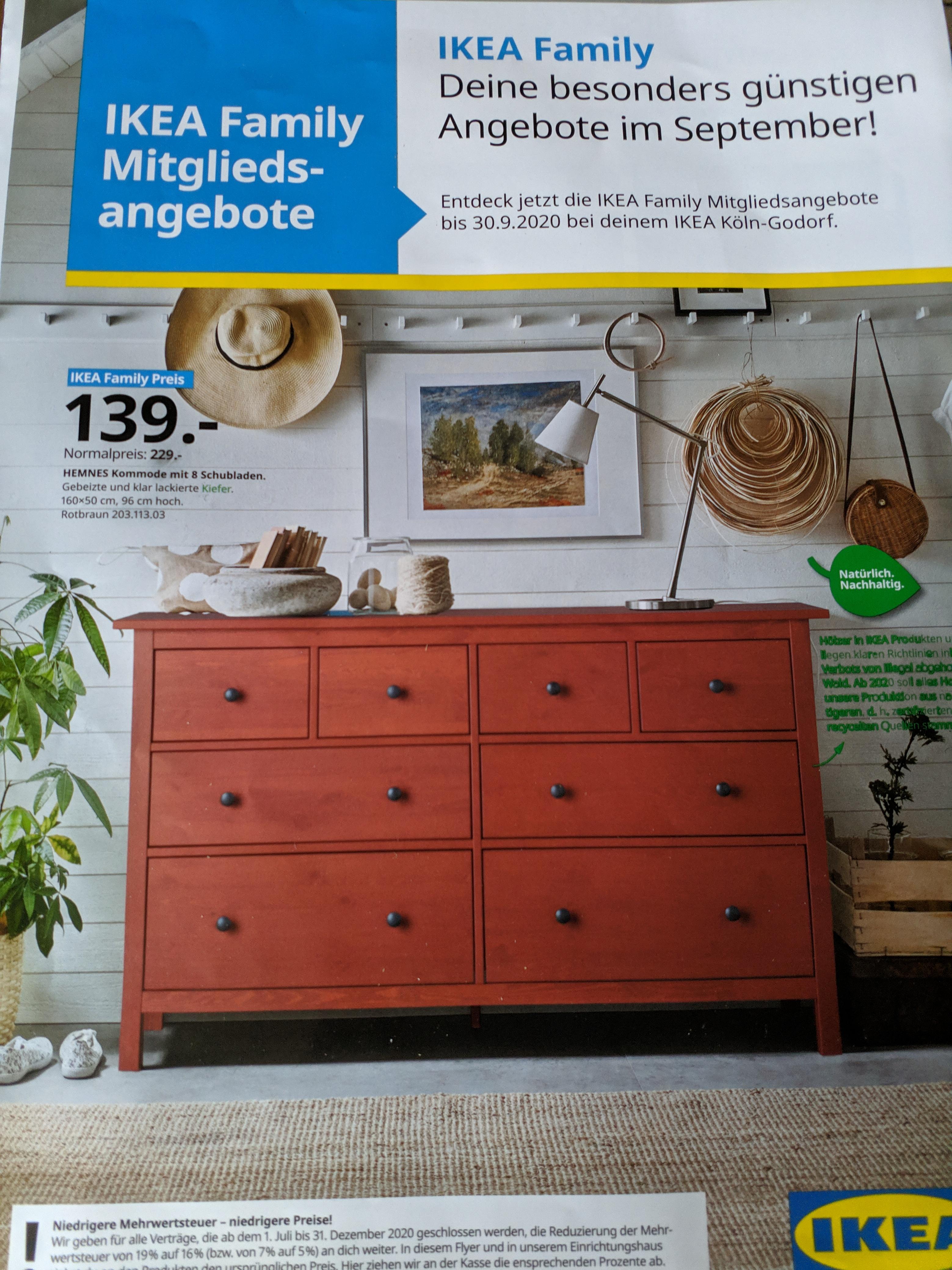[Lokal Köln Godorf] Ikea Family Hemnes Kommode Rotbraun mit 8 Schubladen 160x50x96cm