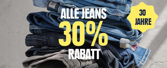 30 % Rabatt auf alle Jeans
