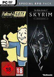 Fallout 4: Game of the Year Edition + The Elder Scrolls V: Skyrim: Special Edition (PC Retail) für 16,55€ (Müller Abholung)
