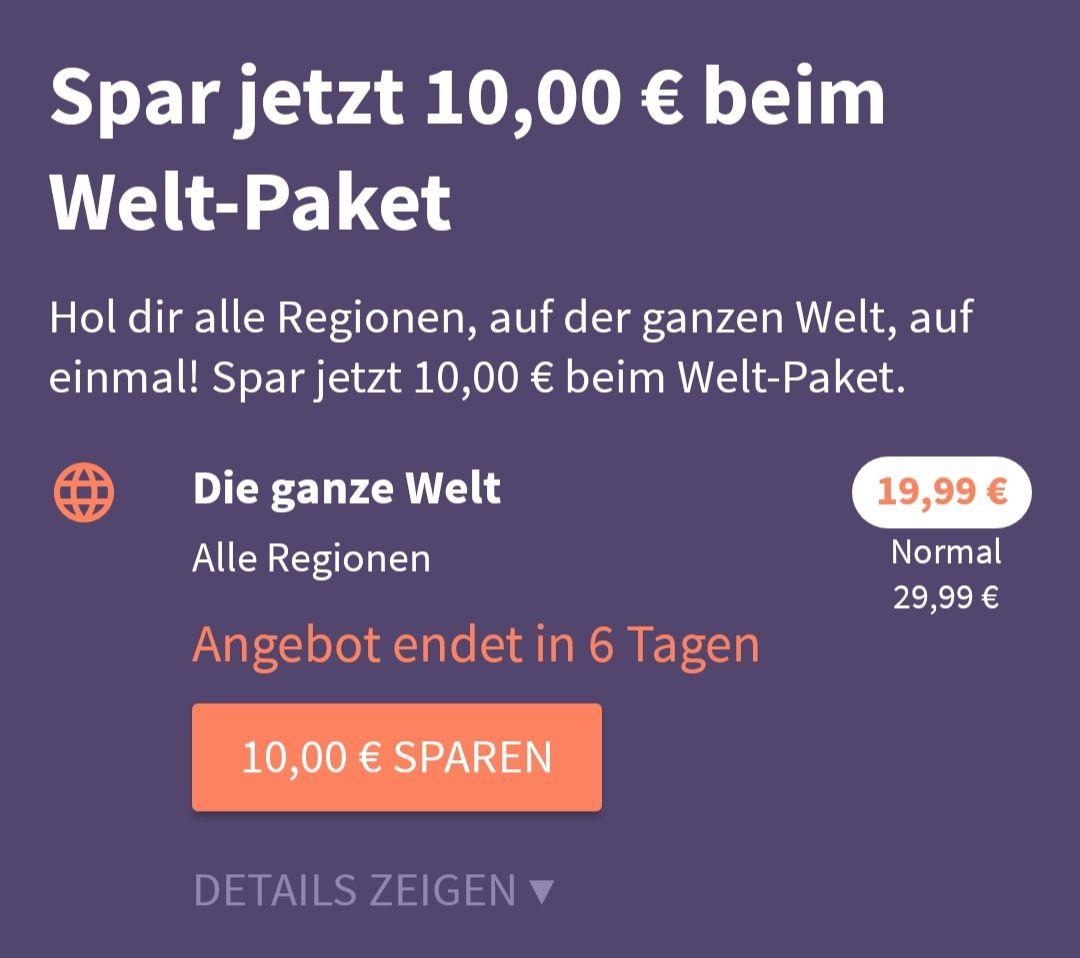 (Neukunden) Komoot Welt-Paket für 19,99€