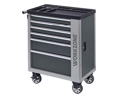 Werkstattwagen Workzone 6 Schubladen Werkzeugwagen @Aldi