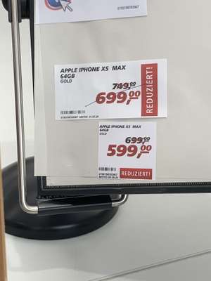 IPhone XS Max 64GB Gold bei Real in Lübeck