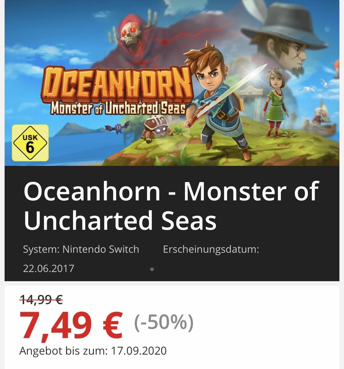 Oceanhorn - Monster of Uncharted Seas Switch eShop