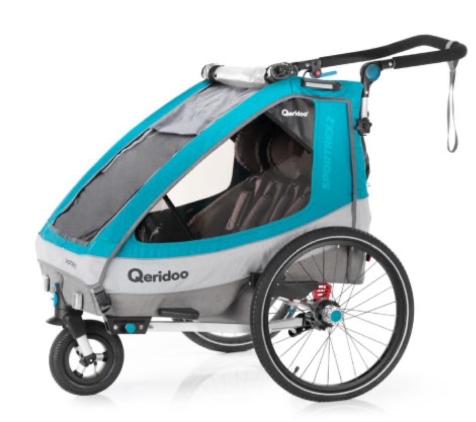 12% auf alles in der neuen [Babymarkt App] z.B. Qeridoo Sportrex 2 2020 // Kinderfahrradanhänger für 2 Kinder