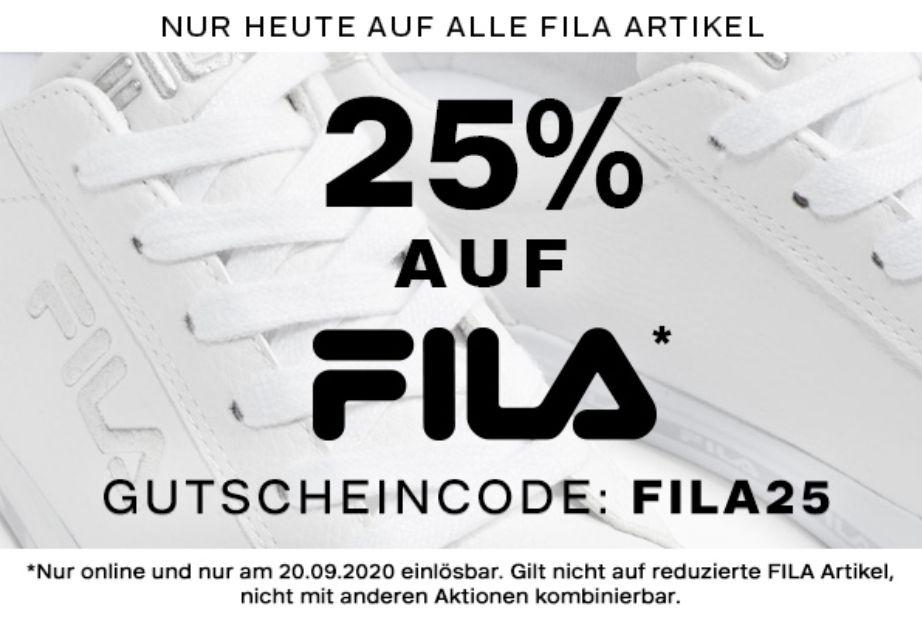 Deichmann 25% Rabatt auf Fila Produkte