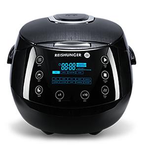 Digitaler Reishunger Reiskocher (1,5l) + 10er Reisbecher Probierset (5 Reisgerichte) + 2 Reisschalen + NL-Geschenk (200g Reis + Verschluss)